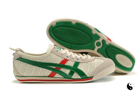 Asics Onitsuka Tiger Mini Cooper Beige Green Red For Womens
