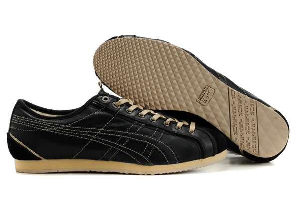 Asics Onitsuka Tiger Olympos Shoes Beige Black