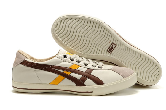 Asics Onitsuka Tiger Rotation 77 White Yellow Chocolate Shoes