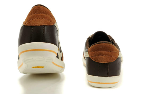 Asics Onitsuka Tiger Rotation 77 Shoes Chocolate Yellow White