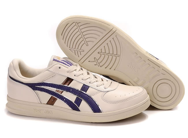 Asics Onitsuka Top Seven Shoes Beige Purple Gold