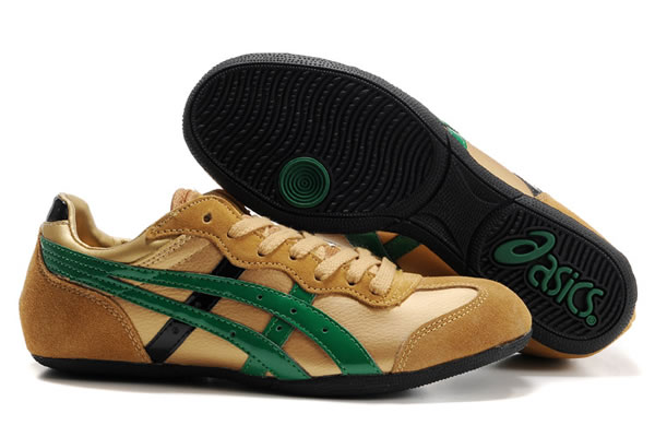 Asics Whizzer Lo Shoes Gold Shoes Green Black