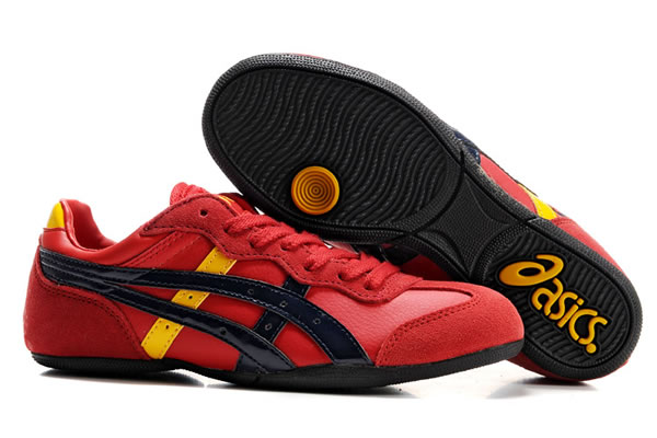 Asics Whizzer Lo Shoes Red Dark Blue Yellow
