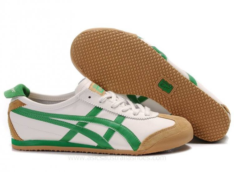 Onitsuka Tiger Mexico 66 White Brown Green Shoes