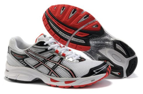 Mens Asics Gel Virage 4 Running Shoes White Red