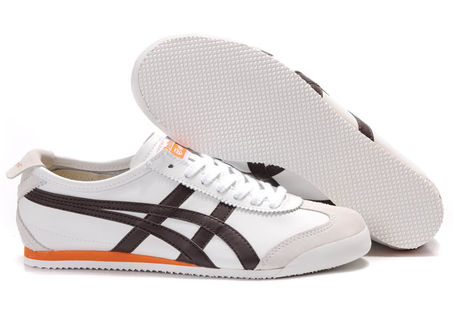 Mens Asics Mexico 66 Shoes White Brown Orange