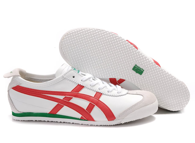 Mens Asics Mexico 66 Shoes White Red Green