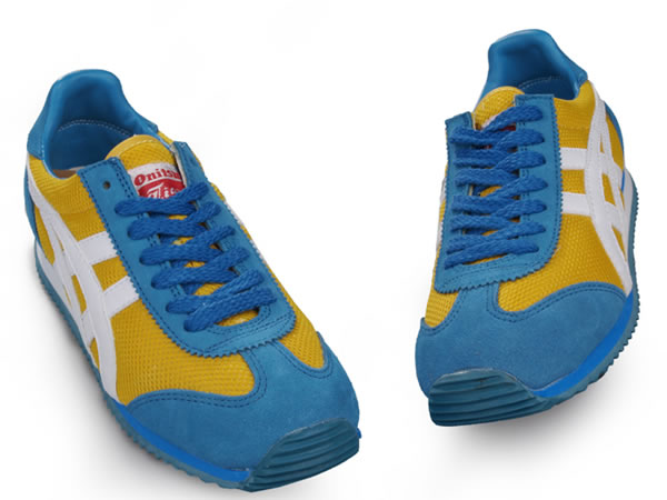 Onitsuka Tiger California Shoes Yellow Blue White