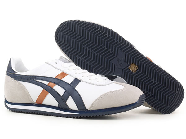 Onitsuka Tiger California Shoes Blue Brown White Beige