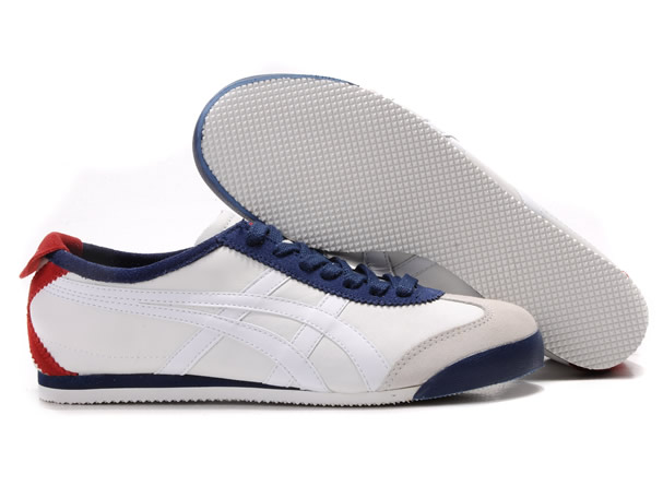 Onitsuka Tiger Mexico 66 White Dark Blue Red Shoes
