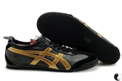 Onitsuka Tiger Mexico 66 Shoes Gold Black