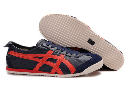 Onitsuka Tiger Mexico 66 Shoes Dark Blue Red