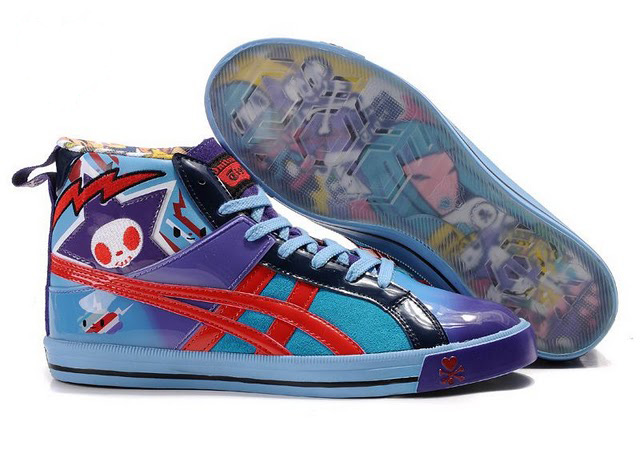 Onitsuka Tiger X Tokidoki Fabre Shoes Blue Red Purple