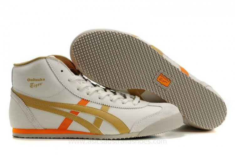 Onitsuka Tiger Mexico Mid Runner Shoes Beige/Orange