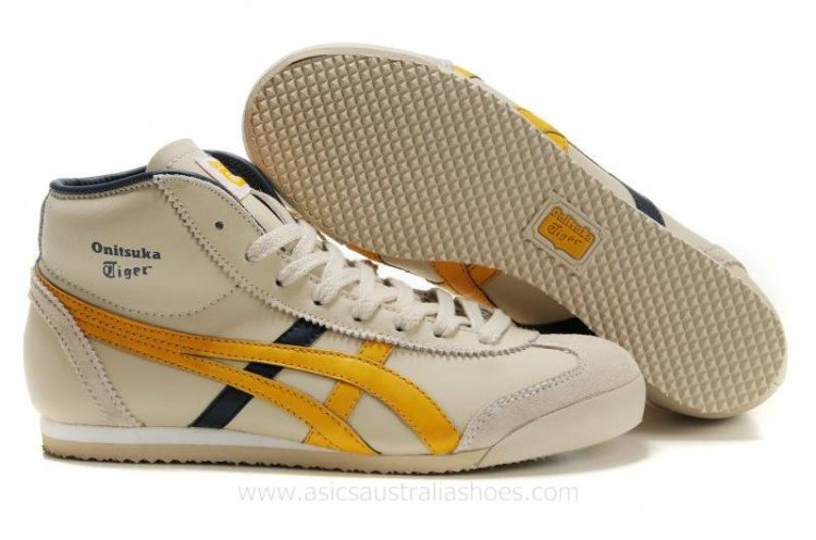 Onitsuka Tiger Mexico Mid Runner Shoes Beige/Yellow