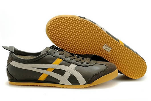 Womens Asics Mexico 66 Shoes Brown Yellow White